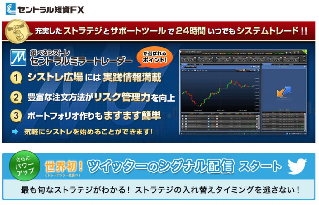 セントラル短資FXの申込みページ